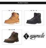 2017 bom design de alta qualidade Mens Casual Amarelo Caminhadas Calçados botas para venda