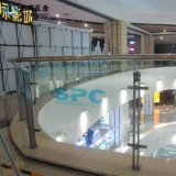 Barandilla de cristal durable modificada para requisitos particulares de la seguridad para la alameda de compras