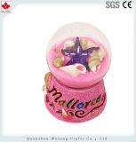 La decoración de vacaciones de recuerdos de resina Snow Globe coloridos elementos de la bola de agua