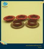 O logotipo personalizado Pintura Redondo Vermelho ilhós de latão para roupa