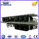 de los 40FT del transporte de contenedores de la plataforma acoplado plano del carro semi