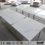 Китайский длинный твердой поверхности белого мрамора верхней части таблицы с ужином (180103)