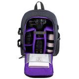 Personnalisée en nylon noir personnalisé de gros sac sac à dos de l'appareil photo appareil photo numérique