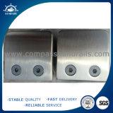 Abrazaderas de cristal del poste de la cerca de /Metal del poste de la cerca del acero inoxidable del compás/diseño de cristal del pasamano