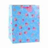 Bolsa de papel floral del regalo del almacén de ropa del verde de la libélula del modelo