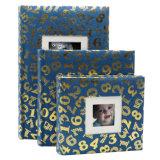 15*15cm hojas autoadhesivas cubierta tejida Álbum de fotos