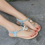 Сандалии женщин новых самых последних сандалий повелительницы Богемии Rhinestone пальца ноги лета конструкций сандалий повелительниц открытых плоские
