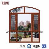 Disegno moderno Windows di alluminio in Cina con vetro inserito griglia