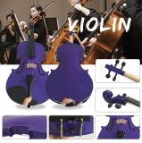 Violon bon marché de contre-plaqué d'instruments de musique de débutant