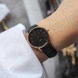 Madame montre d'acier inoxydable de forme ronde de mode