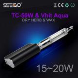 Aqua di erbe di Ecig Tc-50W+Vhit della cera di Seego con la punta rotativa del gocciolamento da 360 gradi