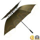 يسم عادة علامة تجاريّة اثنان طبقات لعبة غولف مظلة آليّة مفتوحة صامد للريح