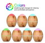 7개의 색깔 변화를 가진 유일한 목제 곡물 300ml 휴대용 전기 방향 유포자