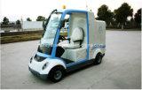 Carro de basura eléctrico de tracción a las cuatro ruedas para las personas 1