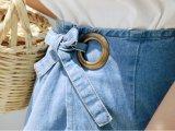 Venta caliente señoras populares Half-Length Denim Traje de falda recta