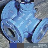 Valvola a rubinetto a tre vie di gestione leva dell'acciaio inossidabile Ss304/Ss316 con la rf