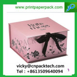 Silk RibbonのハイエンドOffset Printing Book Style Paper Jewelry Storage Box Rigid Foldable Cardboard Paper Packaging Gift Box