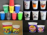 """Macchina """" offset """" della tazza di plastica di quattro colori"""