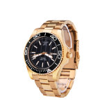 Reloj de lujo mecánico del acero inoxidable de la manera de los hombres modificados para requisitos particulares