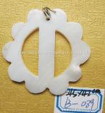 يكيّف تصنيع حسب الطّلب بالجملة [ديي] مجوهرات شريكات بيضاء قشرة قذيفة مدلّاة زرّ عقد