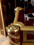 0026本のConicalnessの足の古典的な高貴なブラウンカラーフロア・キャビネット