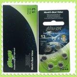 6PCS/Blister 1,4 V Bateria de Aparelhos Auditivos A312 A10 A13 A675