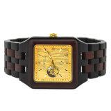 In het groot Dame Van uitstekende kwaliteit Original Grain Wooden Watches met het Embleem van de Douane