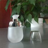[30مل] [فروستد] أبيض مستحضر تجميل زجاجيّة غسول زجاجة مع مضيئة فضة مضخة وغطاء واضحة بلاستيكيّة