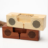 Madeira criativo da minicaixa acústica surround estéreo 3D TF Card Sem Fios do alto-falante Bluetooth