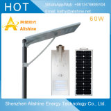 Calle la luz solar LED con 60W Bridgelux Fuente de luz