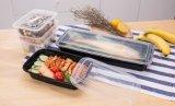 正方形の黒い食糧容器の使い捨て可能なプラスチックPPマイクロウェーブ安全なお弁当箱を取り除きなさい