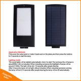 lampada di via solare esterna di 15W 2100lm LED per illuminazione della strada della parete del giardino con il sensore di movimento del radar