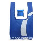 يعلن رخيصة اللون الأزرق [210د] بوليستر سفر [شوبّينغ بغ] [فولدبل] في كيس