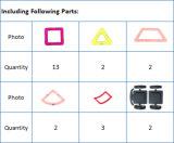 29ПК 3D-магнит здание плитки учебных работ магнитные игрушки для детей