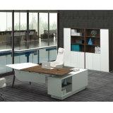 L таблица офиса формы с ногами твердой древесины