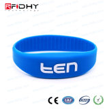 Wristband del silicone inciso laser di controllo di accesso RFID