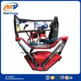 競争3つのスクリーンが付いているバーチャルリアリティのシミュレーターを6度の自由のゲーム・マシン運転する