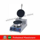 Baker simple de gaufre d'acier inoxydable de matériel de casse-croûte de qualité de Wintoo