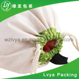 Sacos impermeáveis bonitos impressos costume do arroz do saco da farinha da lona do algodão do Drawstring do Polypropylene
