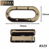 Bloqueo de cobre amarillo antiguo de la pieza inserta del pulsador del metal de la manera para el bolso (8525)