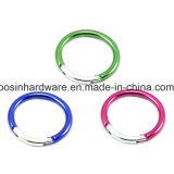 Mosquetón con forma de anillo redonda de aluminio
