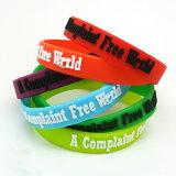 Caoutchouc de silicone de vente chaude Fashion Sports Kids Promotion cadeau publicitaire Bracelet Bracelet