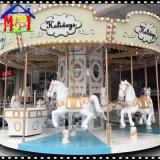 16 sièges White Horse Carousel joyeux aller autour de Manèges