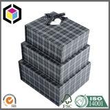 Conjunto rígido del rectángulo de papel del regalo de la cartulina de la impresión de color del diseño de la manera