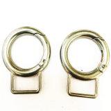 Hot Sale en alliage de zinc cercle en forme de mousqueton pour sac de Collier pour chien en laisse les clips (HSG0013)