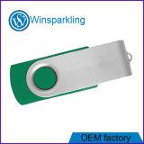 Поворотное устройство USB Flash накопитель с голубой, зеленый, красный корпус