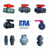 Soupapes d'ère, robinet à tournant sphérique simple mâle de syndicats de PVC Pn10 (F1970), NSF-Picowatt et UPC
