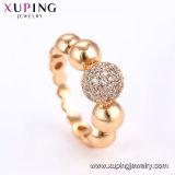 Последние моды Xuping 15071 украшения валик клея кольцо с 18k позолоченными контактами