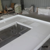 La Chine Kingkonree poli la vanité de pierre de quartz blanc de Carrare haut (C171130)