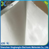 Bande anti-calorique de fibre de tissu en verre de silicones d'isolation blanche de ruban adhésif